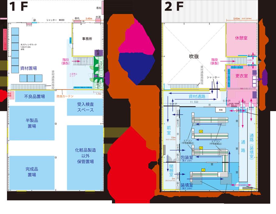 倉庫内図面・設備紹介 草加センター